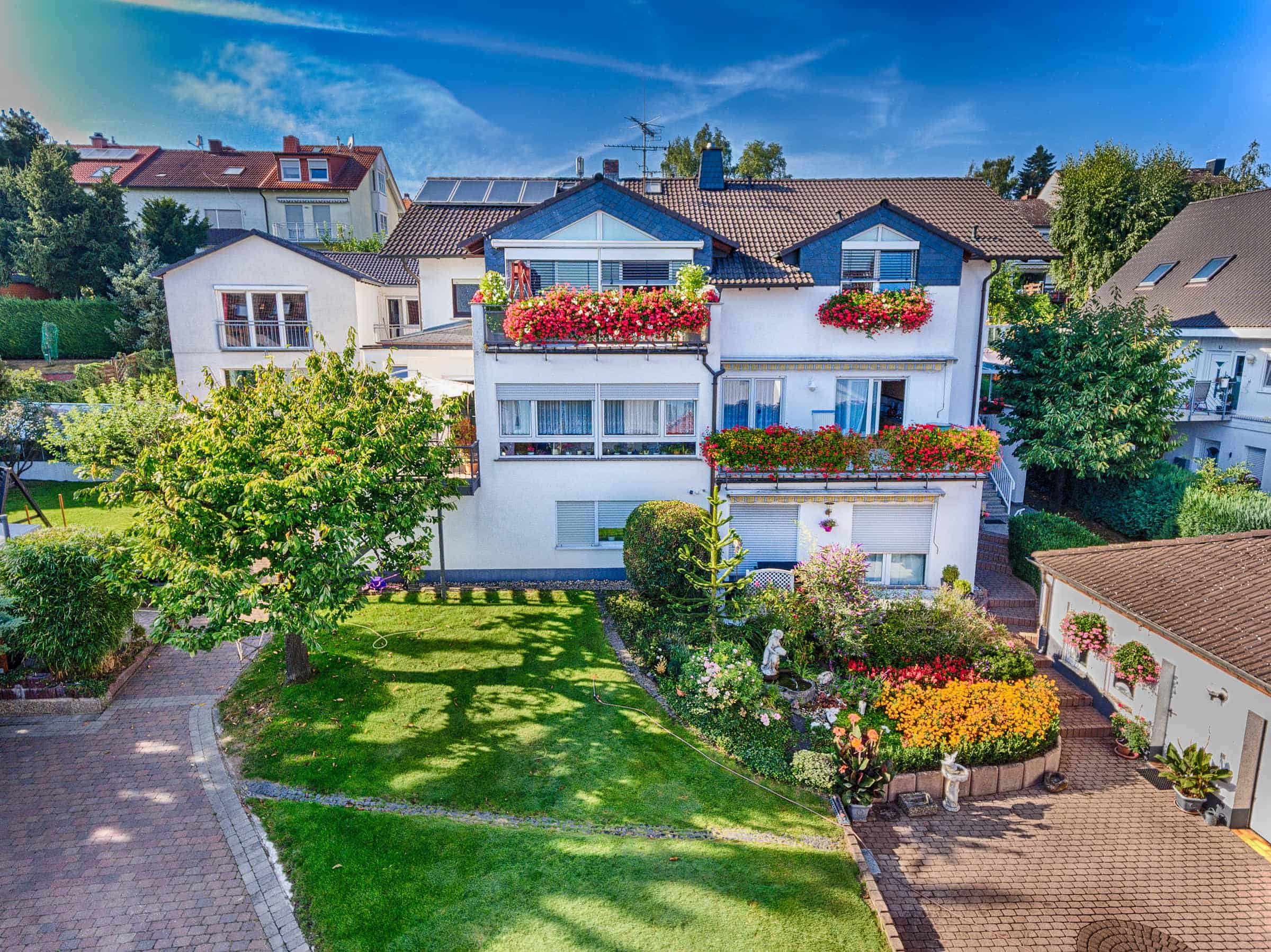 Luftaufnahmen von einem Haus